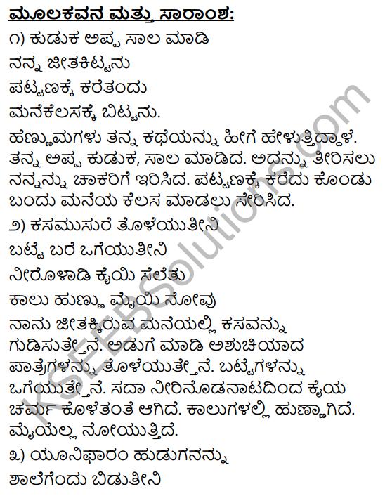 Mannegelasada Hennumagalu Summary in Kannada 3
