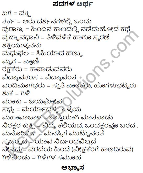 Siri Kannada Text Book Class 5 Solutions Gadya Chapter 5 Panjara Saale 1