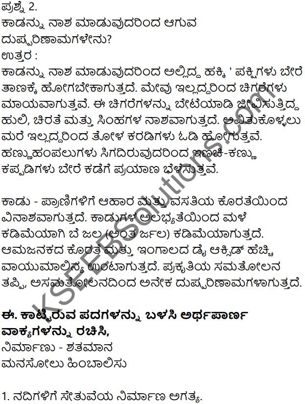 Siri Kannada Text Book Class 7 Solutions Gadya Chapter 4 Parisara Samatholana 5