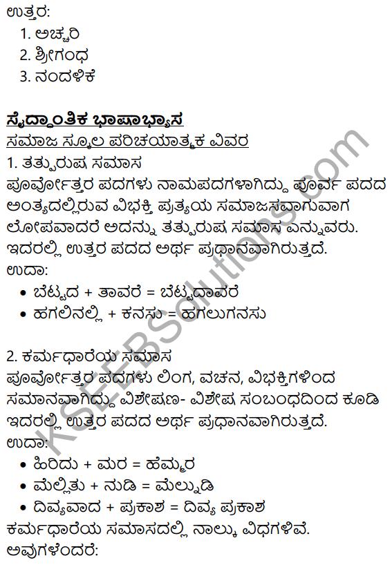 Siri Kannada Text Book Class 8 Solutions Gadya Chapter 8 Saptakshari Mantra 11