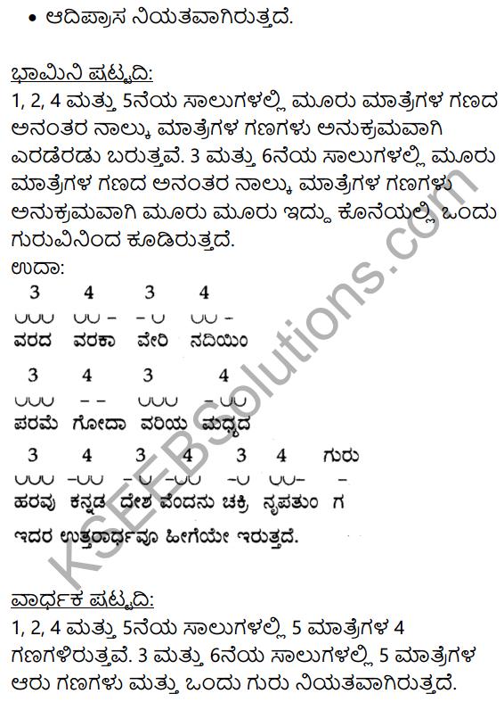 Siri Kannada Text Book Class 9 Solutions Padya Chapter 7 Ninna Muttina Sattigeyannittu Salahu 9