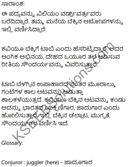 The Kitten at Play Summary In Kannada 1