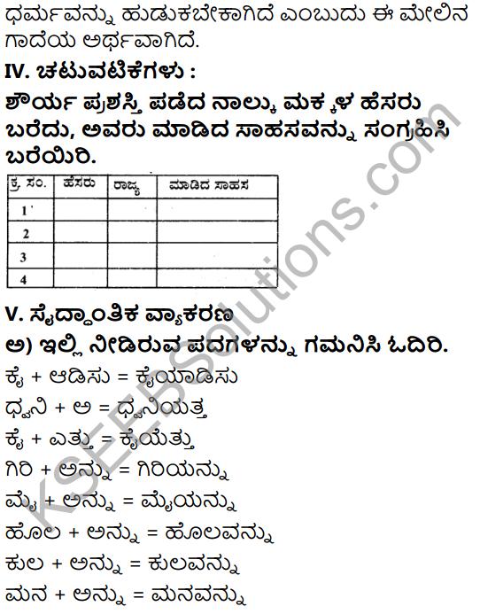 Tili Kannada Text Book Class 6 Solutions Gadya Chapter 5 Sahasi Monalisa 12