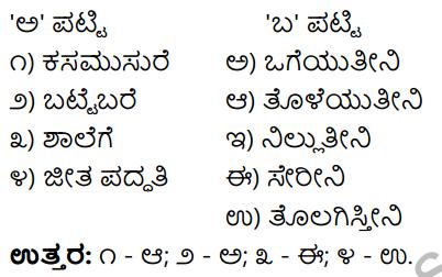Tili Kannada Text Book Class 9 Solutions Padya Chapter 5 Mannegelasada Hennumagalu 8