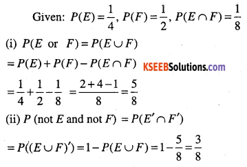 1st PUC Maths Question Bank Chapter 16 Probability 10