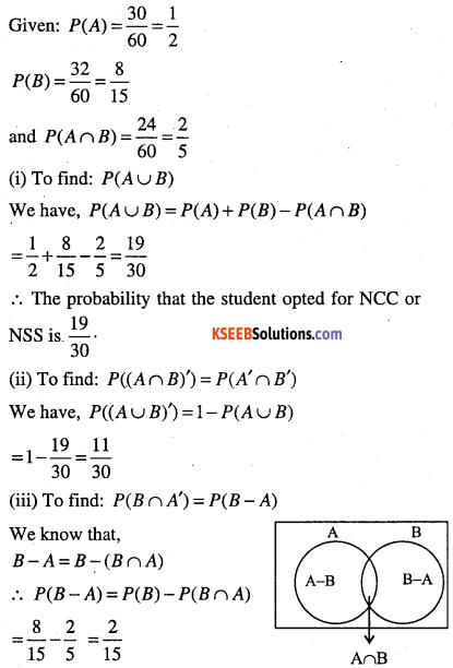 1st PUC Maths Question Bank Chapter 16 Probability 12