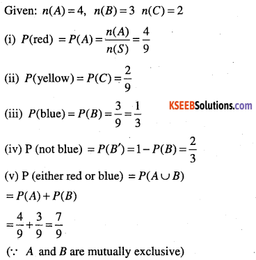 1st PUC Maths Question Bank Chapter 16 Probability 13