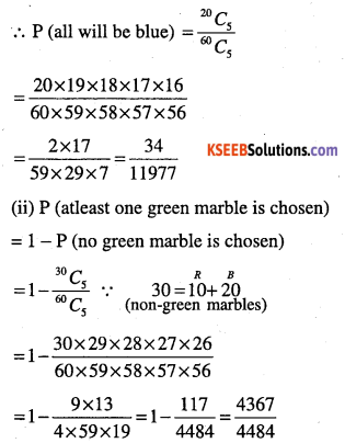 1st PUC Maths Question Bank Chapter 16 Probability 17