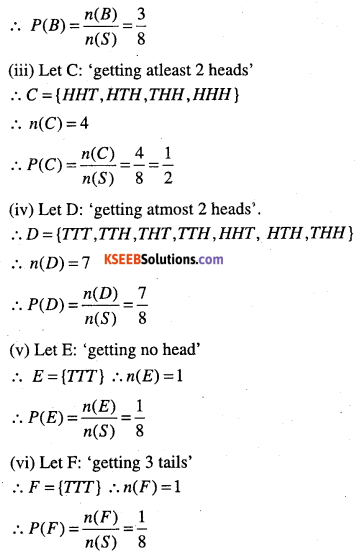 1st PUC Maths Question Bank Chapter 16 Probability 5