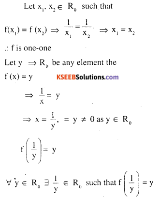 2nd PUC Maths Question Bank Chapter 1 Relations and Functions Ex 1.2 1