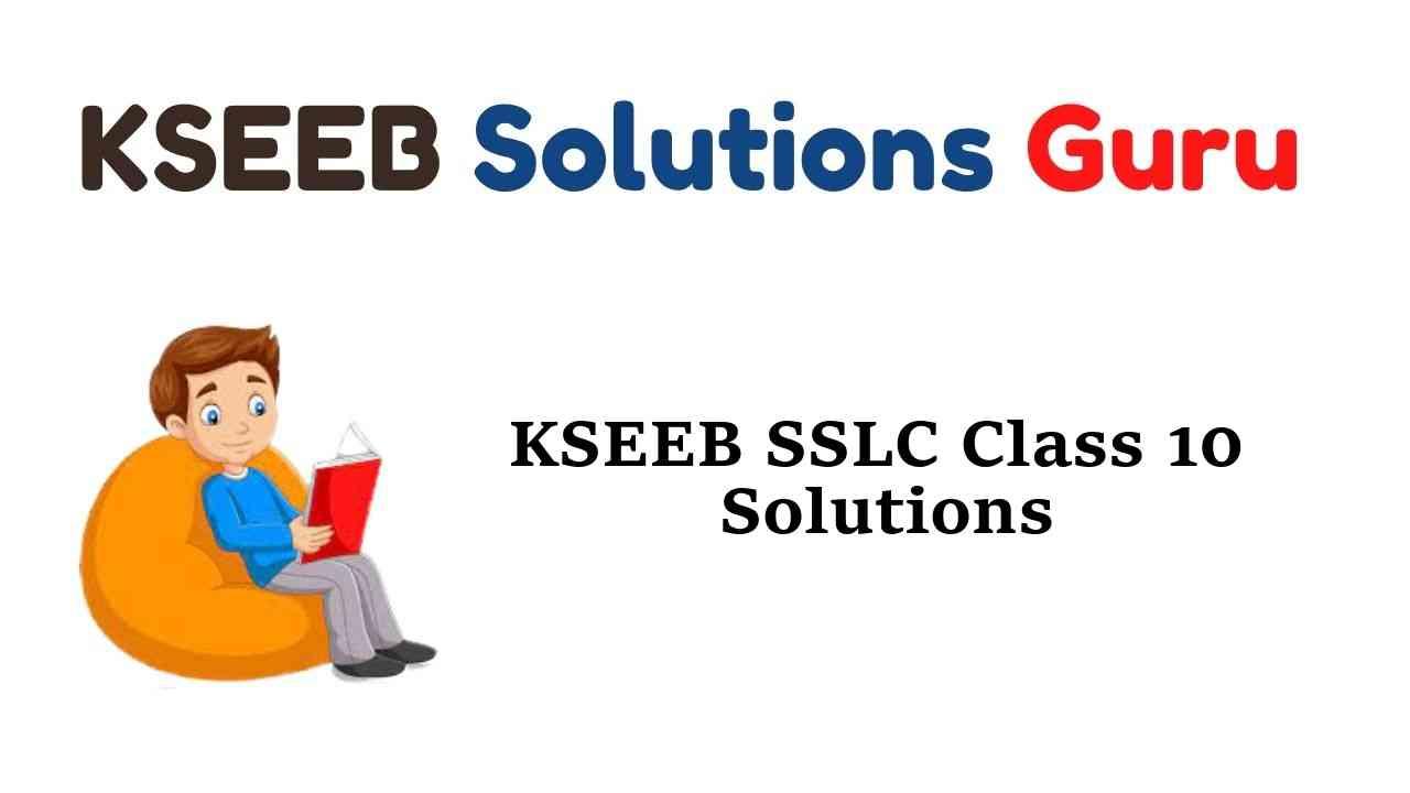 KSEEB SSLC Class 10 Solutions Karnataka State Syllabus