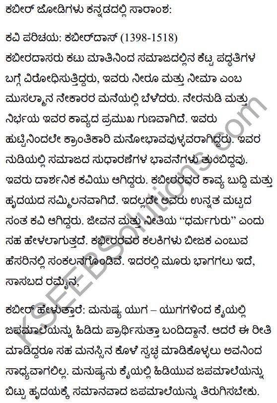 कबीर के दोहे Summary in Kannada 1