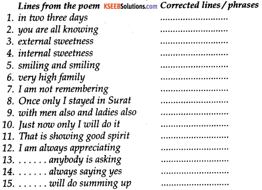 KSEEB Solutions for Class 9 English Poem Chapter 9 Goodbye Party for Miss Pushpa T.S. 1