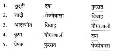 Karnataka Solutions for Class 8 Hindi वल्लरी Chapter 8 छुट्टी पत्र 1