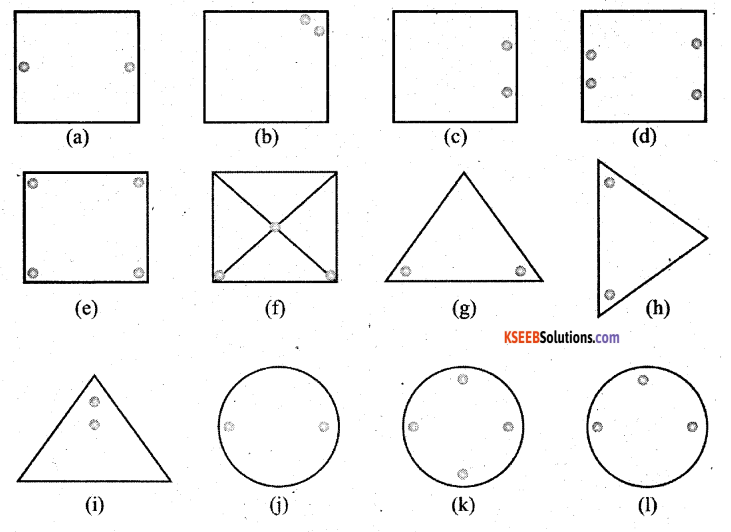 KSEEB Solutions for Class 7 Maths Chapter 14 Symmetry Ex 14.1 1