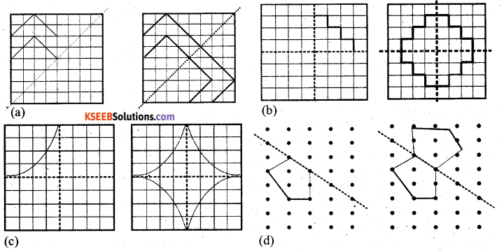 KSEEB Solutions for Class 7 Maths Chapter 14 Symmetry Ex 14.1 17