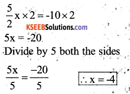 KSEEB Solutions for Class 7 Maths Chapter 4 Simple Equations Ex 4.3 141
