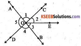 KSEEB Solutions for Class 7 Maths Chapter 5 Lines and Angles Ex 5.1 201