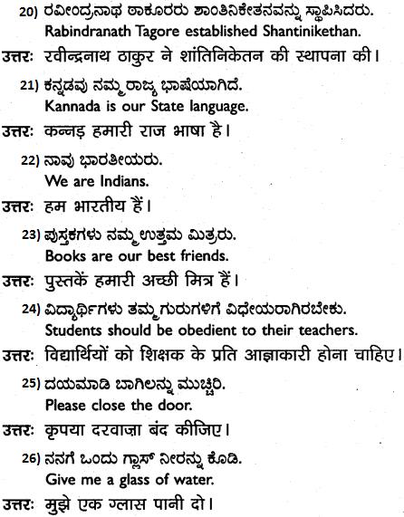 1st PUC Hindi Workbook Answers अनुवाद 4