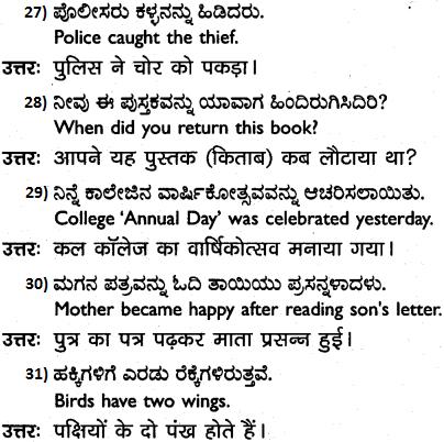 1st PUC Hindi Workbook Answers अनुवाद 5