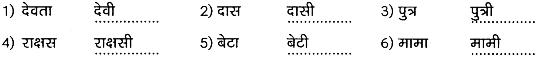 1st PUC Hindi Workbook Answers व्याकरण लिंग 1