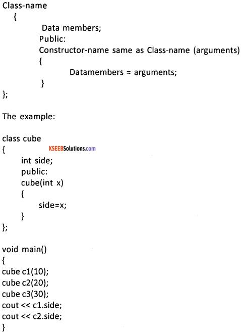 2nd PUC Computer Science Question Bank Chapter 9 Constructors and Destructors 8