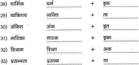 2nd PUC Hindi Workbook Answers व्याकरण प्रत्यय 4