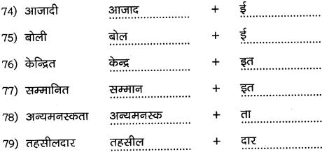 2nd PUC Hindi Workbook Answers व्याकरण प्रत्यय 8