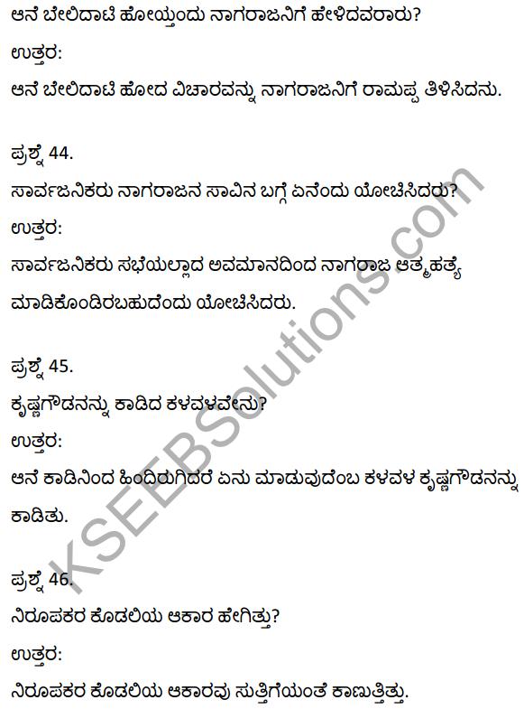 2nd PUC Kannada Textbook Answers Sahitya Sampada Chapter 21 Krishna Gowdana Aane 12