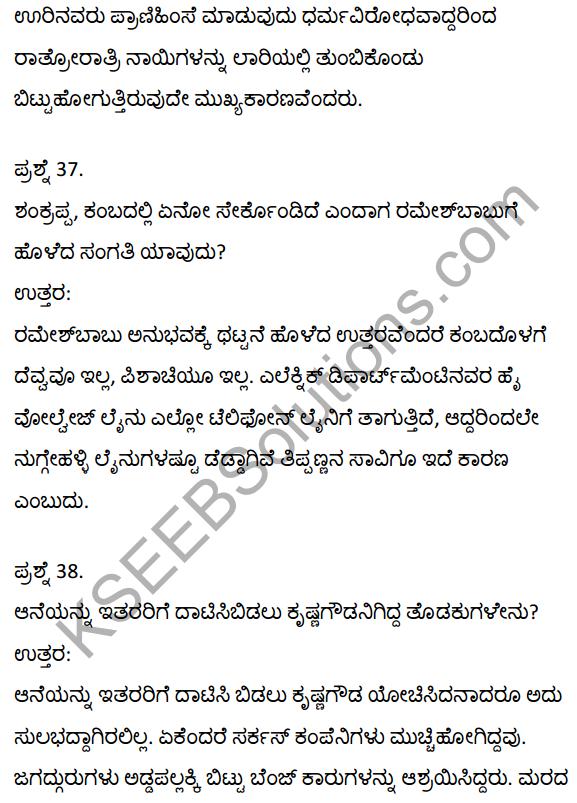 2nd PUC Kannada Textbook Answers Sahitya Sampada Chapter 21 Krishna Gowdana Aane 28