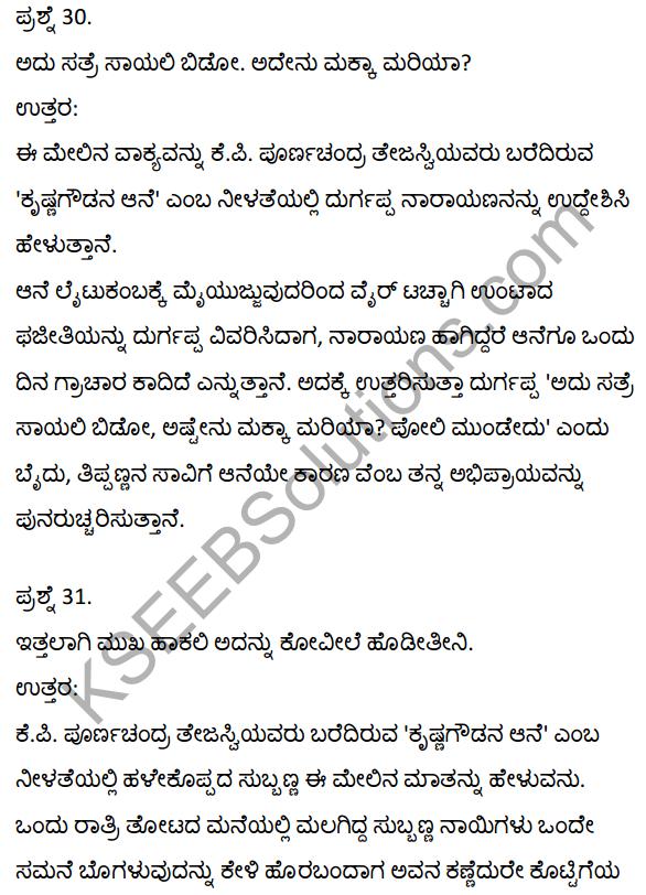 2nd PUC Kannada Textbook Answers Sahitya Sampada Chapter 21 Krishna Gowdana Aane 51