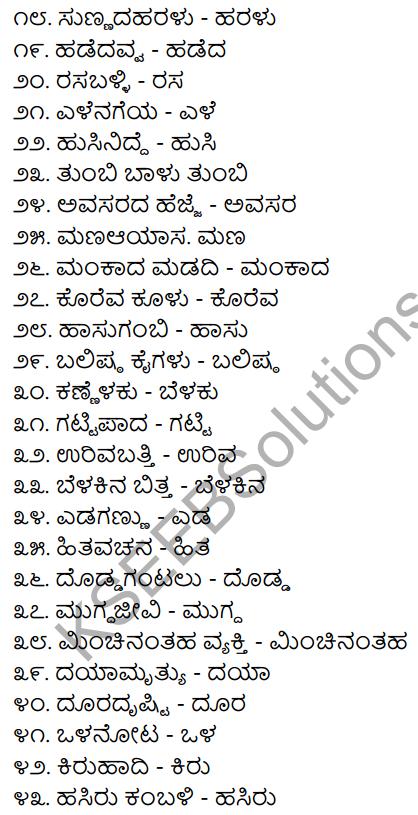 2nd PUC Kannada Workbook Answers Chapter 7 Namapadagalu, Gunavachakagalu, Vibhakti Pratyayagalu 2