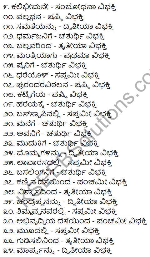 2nd PUC Kannada Workbook Answers Chapter 7 Namapadagalu, Gunavachakagalu, Vibhakti Pratyayagalu 5