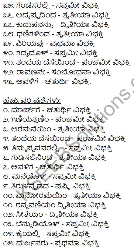 2nd PUC Kannada Workbook Answers Chapter 7 Namapadagalu, Gunavachakagalu, Vibhakti Pratyayagalu 6